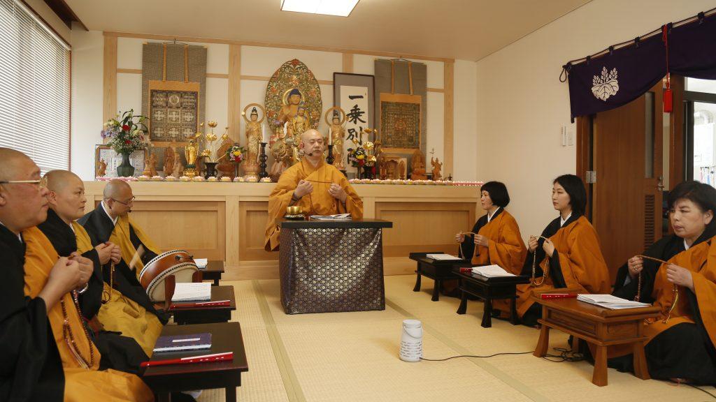 京都四明山一乘院举办消疫祈福法会